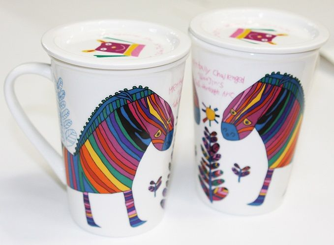 Colorful Zebra Mugs made by WooJin Kim.