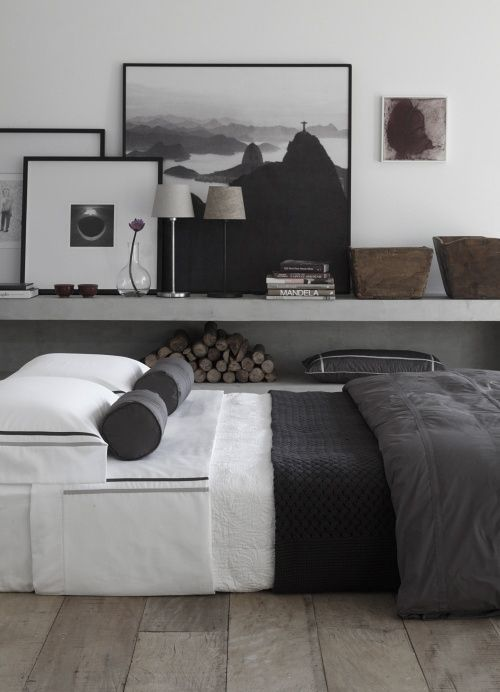 gray scale for master bedroom with a touch of neutral browns