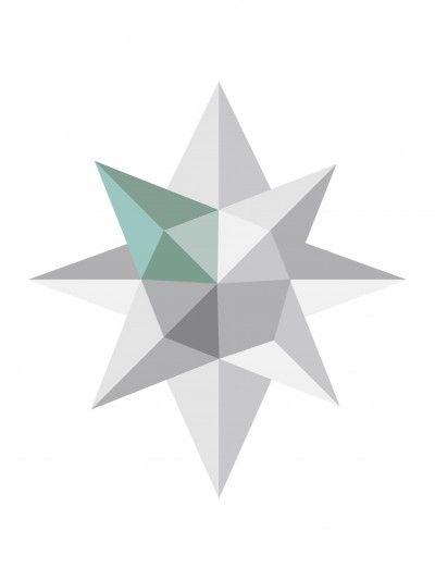 FALLEN STAR 30 x 40 grey/petrol