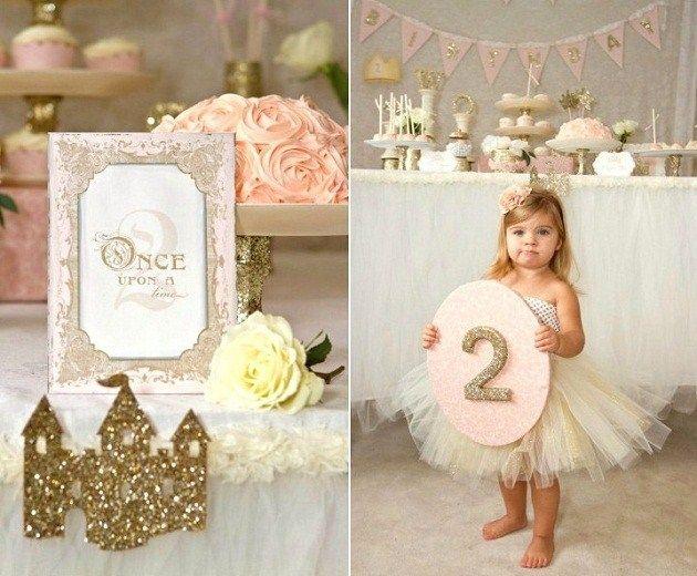 gold & pink fairytale birthday