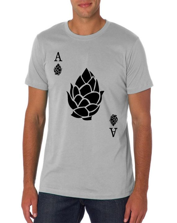 Ace of Hops Craft Beer Homebrew TShirt by brewershirts on Etsy, $20.00