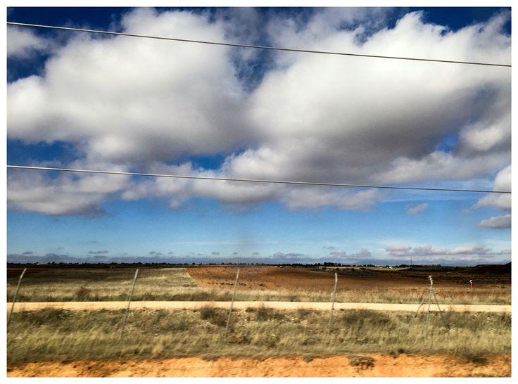 Cielo desde el tren