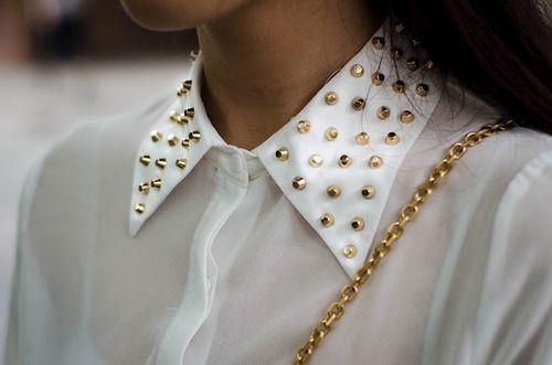 Gold | Studs fashion blouse