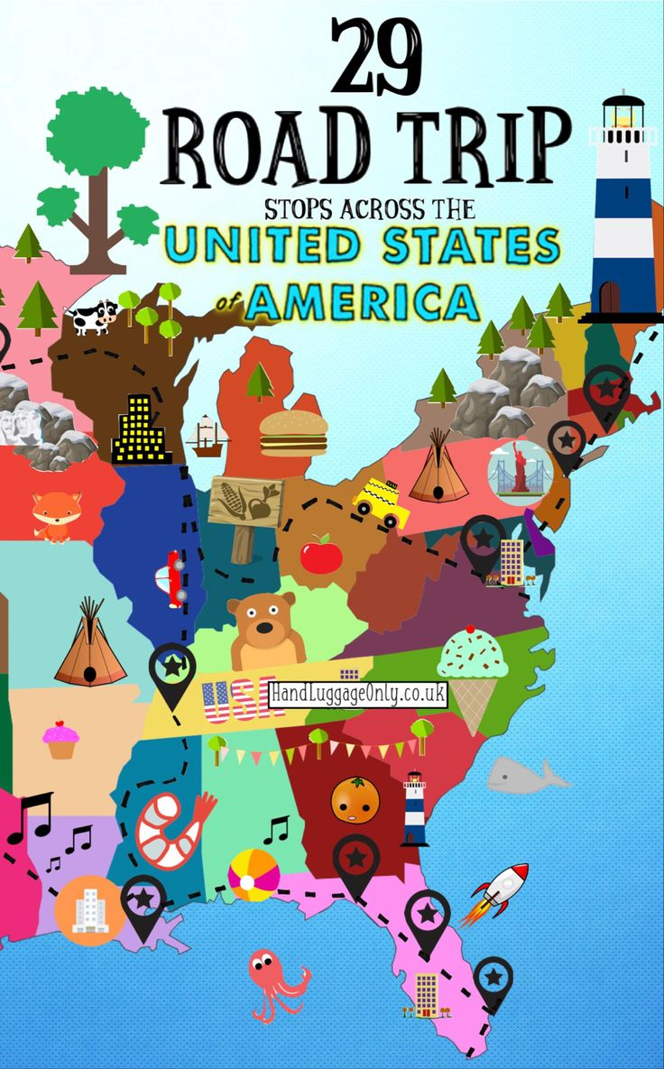 Best Travel The US Images On Pinterest - Us road trip map