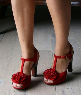 Red rose shoes