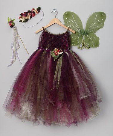 Take a look at this Purple & Green Fairy Dress Set - Toddler & Girls on zulily today!