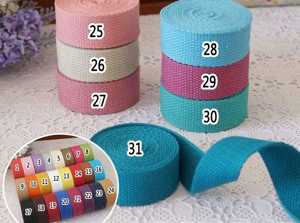 38mm, 1.5'' 10meter Diy candy color knitted ribbons belt canvas bag webbing, bag luggage ribbons diy sewing belt diy patchwork