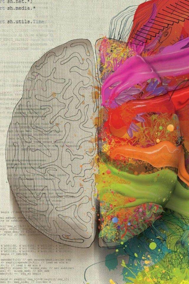 Paint Brain Mobile Wallpaper - Mobiles Wall | Graphic Design | Nursing wallpaper, Mobile ...