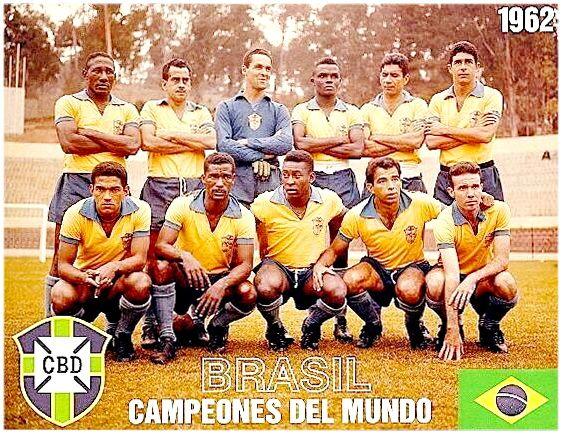 Equipos de fútbol: SELECCIÓN DE BRASIL Campeona del Mundo 1962