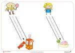 Grafomotricidad: Fichas de trazos diagonales