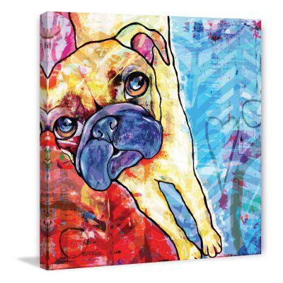 Marmont Hill Pug Pop Art Painting Print - MH-STGRC-25-C-24