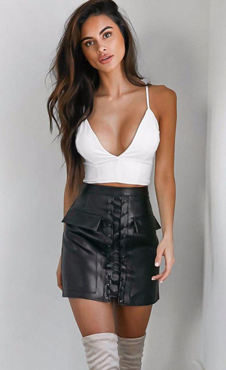 $34.99 Thick Pencil Skirt Preppy Mini Skirt