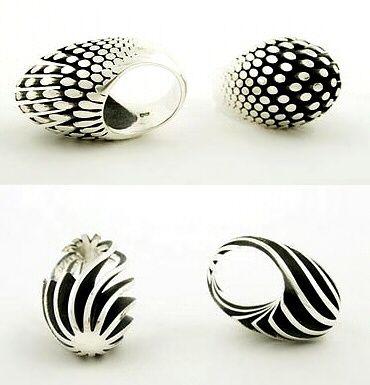 """Egg"" series Rings by Sarah Herriot. Sterling Silver"