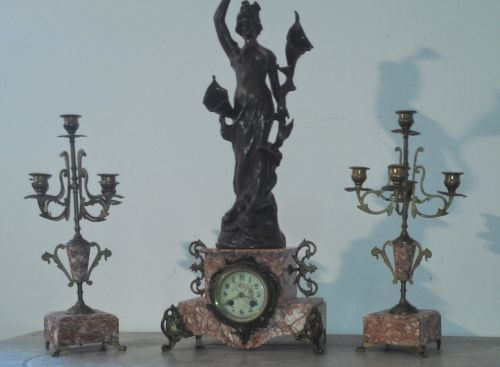 antique-french-mantle-clock-art-nouveau-stamped-garniture-set-candlestick-paris