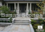 Natural Banas Stones pavers in the front patio in Banas Bronte. It's available at Lanes Landscaping 3500 Mavis Rd, Mississauga, ON L5C 1T8