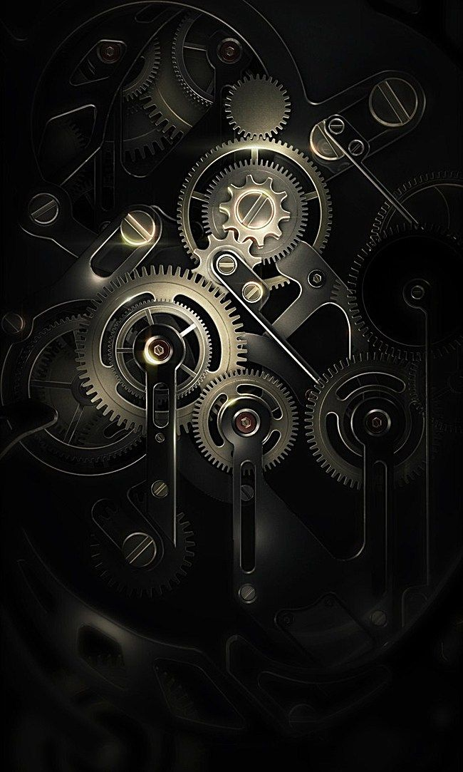Creative Mechanical Background Pretty Wallpaper Iphone Black