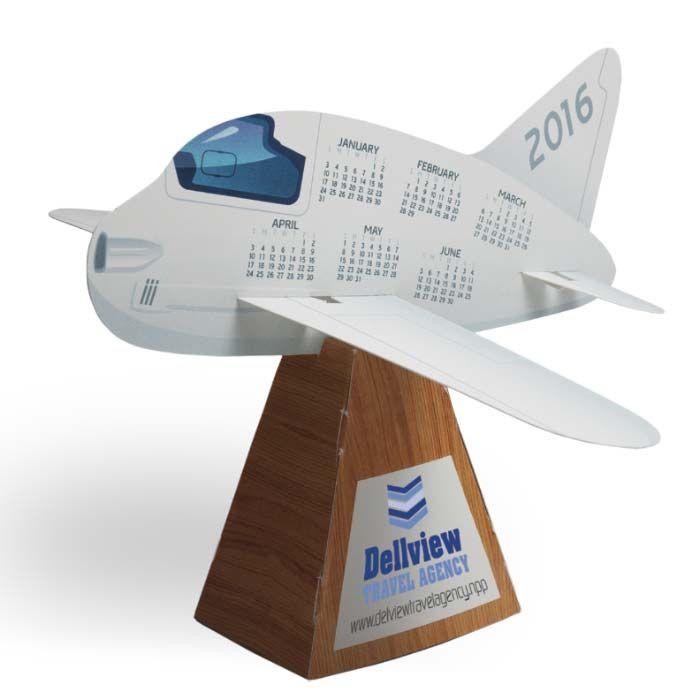3D Airplane Die-Cut Desk Calendar
