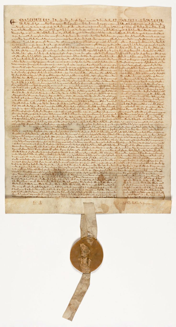 Magna Carta, signed on the 15th of June 1215