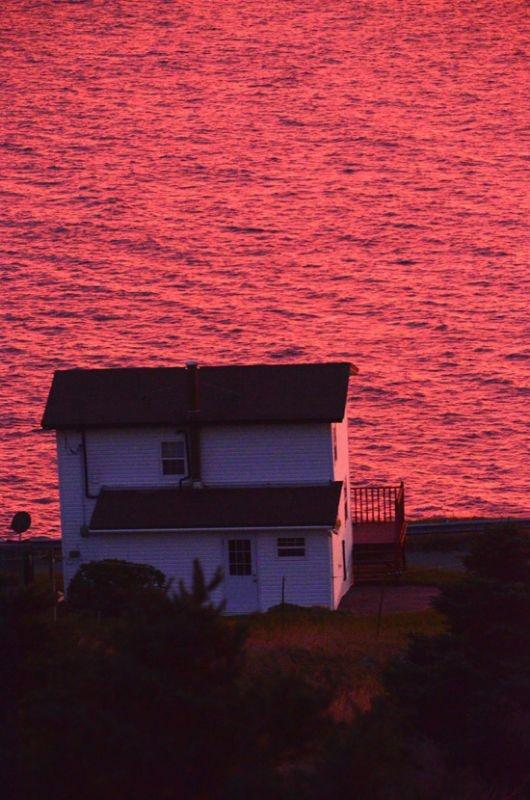 A Fall Sunset in Upper Amherst Cove, Bonavista Bay, Photo by David Borland <3