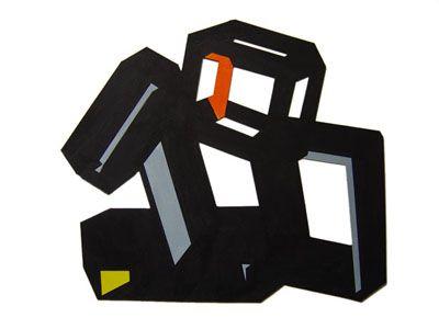 Encaje 1. Acrilic on cutout cardboard. 50 x 40 cm.2011