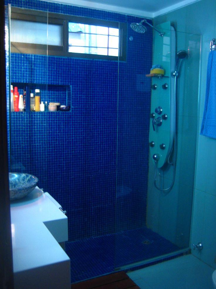 ...baño azul como el mar...banheiro azul da cor do mar...