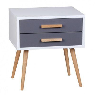 Home & Haus Nachttisch Ayo mit 2 Schubladen
