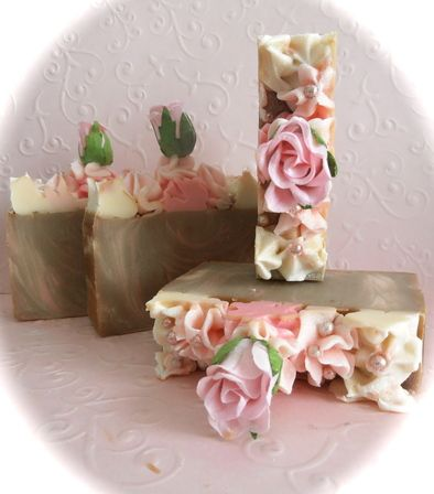"""Marie Antionette"" Artisan Handmade Soaps ~ use in guest bathroom"