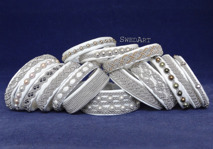 This photo of snow white SwedArt leather bracelets got a tremendous response on Facebook.