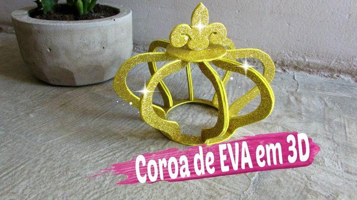 Como Fazer Coroa de EVA em 3D Passo a Passo / Por Carla Oliveira