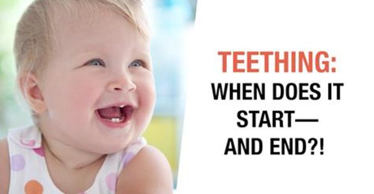 Wondering when your baby will start or finish teething? 😨  While most babies begin at around 4-6 months, @parentsmagazine says you shouldn't expect to see a full set of teeth until age 3!   Learn more via this video they shared:   #teething #baby #parenting
