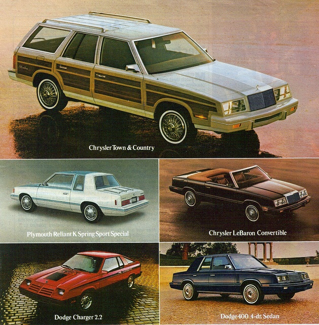 Delightful Chrysler K Cars. Bought My First Car, A Brown 4 Door Sedan From @