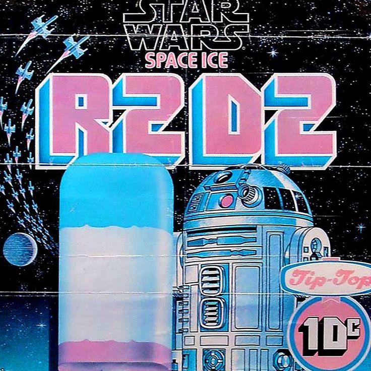 Star Wars NZ - vintage R2-D2 Space Ice poster