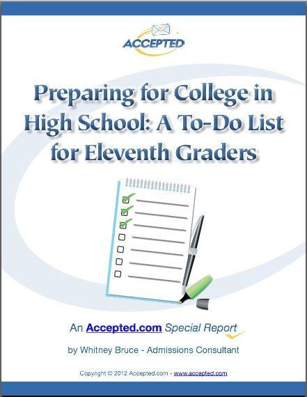 What should a junior in high school do to prepare for college?