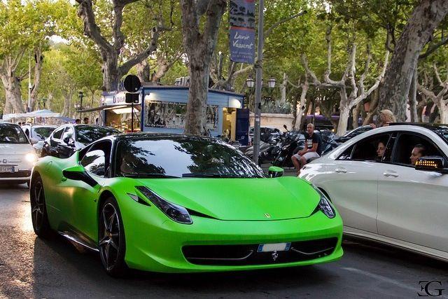 ferrari 458 green and ferrari on pinterest - Ferrari 458 Spider Green