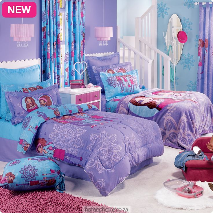 Bella duvet and comforter set from R399 cash or R39 p/m. Shop http://www.homechoice.co.za/Baby-And-Kids/Girls-Bedding/Bella.aspx