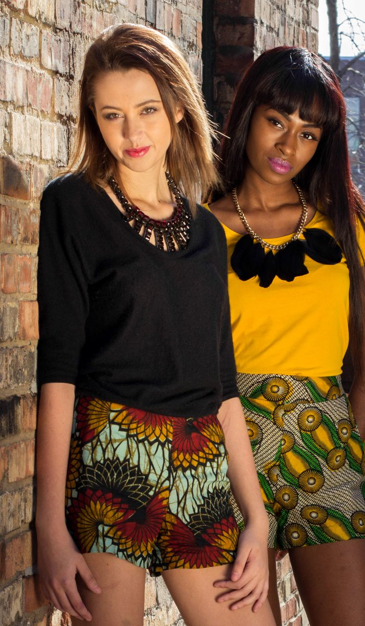 Kilambi Design high-waisted shorts. Made in Kenya, designed in Canada. @KilambiDesign