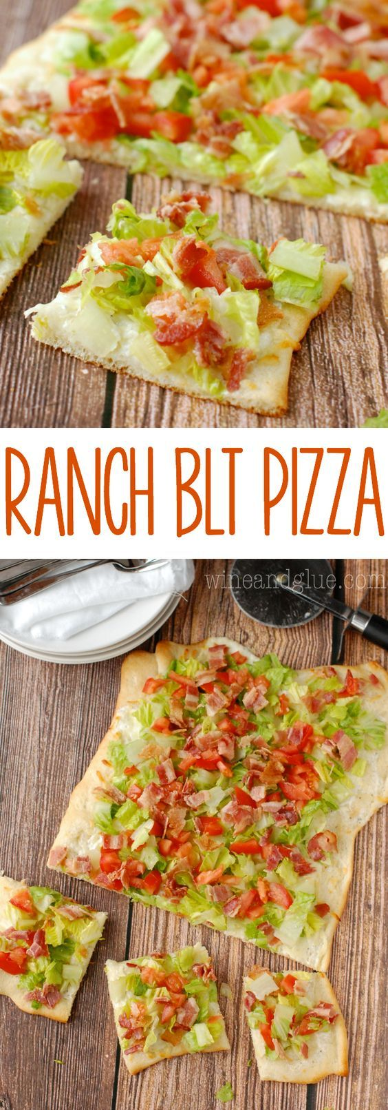 Ranch BLT Pizza   Ridiculously fast and easy and SUPER delicious!