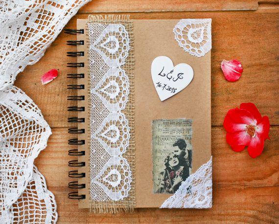 Wedding guest book with pen Rustic wedding от handmadeBYmamas