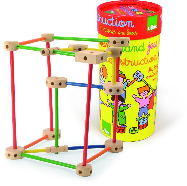 GRAN JUEGO DE CONSTRUCCIÓN Construcción de juguete compuesto por 70 piezas de madera para montar en varias combinaciones. Este conjunto de construcción de madera tradicional tendrá entretenido e inspirado a su hijo durante horas.  Medidas aproximadas: 13x28,5 cm Edad recomendada: A partir de 4 años PVP: 27,50 € #juegodeconstruccion #construccionesinfantiles #juguetemadera http://www.babycaprichos.com/gran-juego-de-construcci-n.html