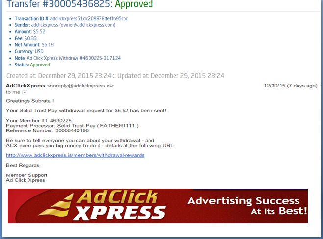 """INCOME JUST BY WATCHING ADS AND POSTING """"I WORK FROM HOME less than 10 minutes and I manage to cover my LOW SALARY INCOME. If you are a PASSIVE INCOME SEEKER, then AdClickXpress (Ad Click Xpress) is the best ONLINE OPPORTUNITY for you  And many more earnings with AdclickXpress like  GET RICH POSTING YOUR PAYOUT PROOFS AND GET REWARDS... For more Details Dial +8642008333To join Click the given link :- http://www.adclickxpress.is/?r=gs3wv27a2pqh&p=mx"""