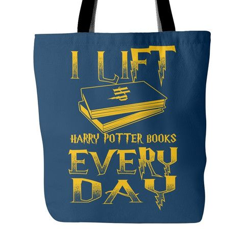 Tote Bags - I Lift HP Books Every Day Tote Bag