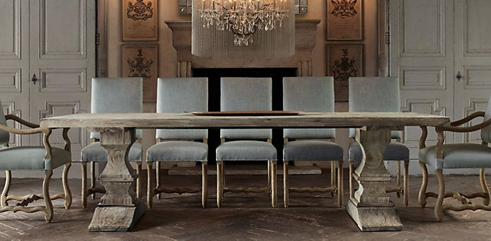 dumont dining tables | restoration hardware i love this table! but