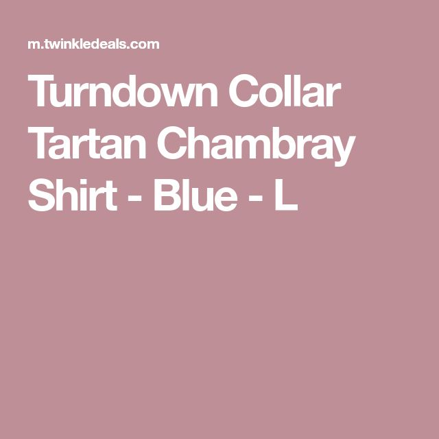 Turndown Collar Tartan Chambray Shirt - Blue - L