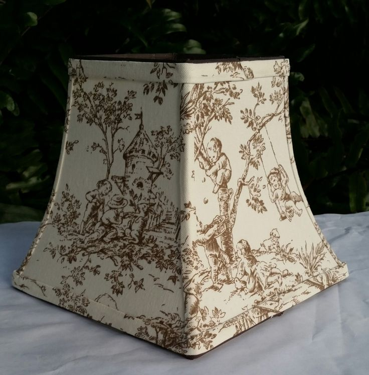 17 Best images about VL Scenic Print and Toile Lamp Shades on – Toile Chandelier Shades