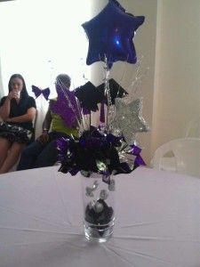 decoracion para centro de mesa para graduacion