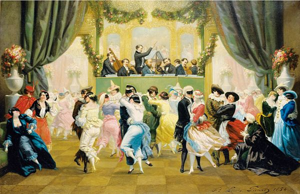 Masked Ball by Francois-Louis Picard