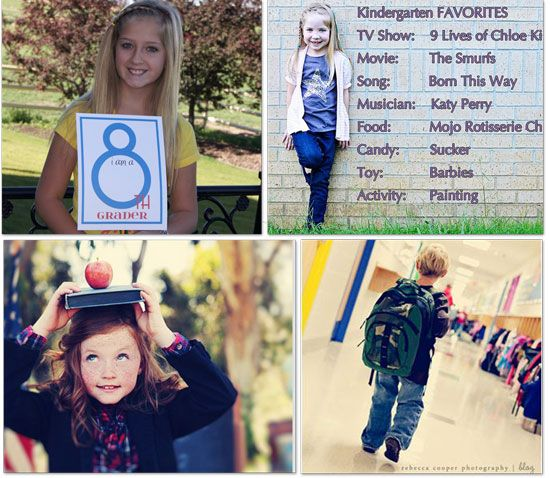 Cute printables for back-to-school pictures.