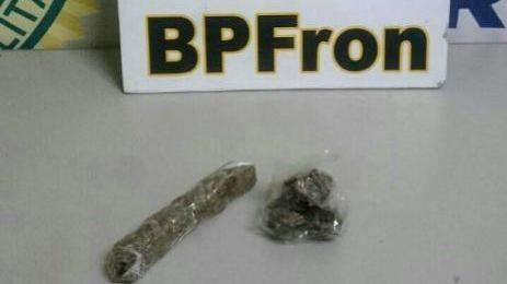 Polícia Militar através do BPFron realiza apreensão de maconha em