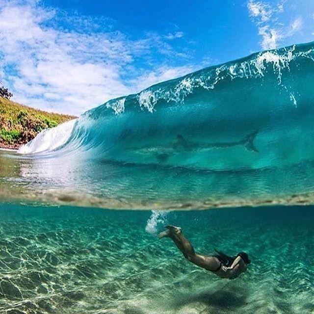 Кристально чистый океан. Мауи, Гавайи