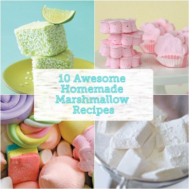 10 Awesome Homemade Marshmallow Recipes! These sou…